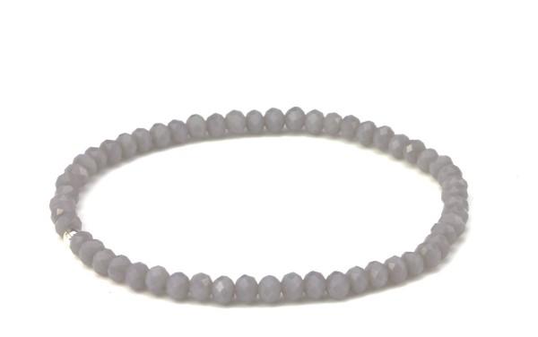 Elastiches Armband in Grau