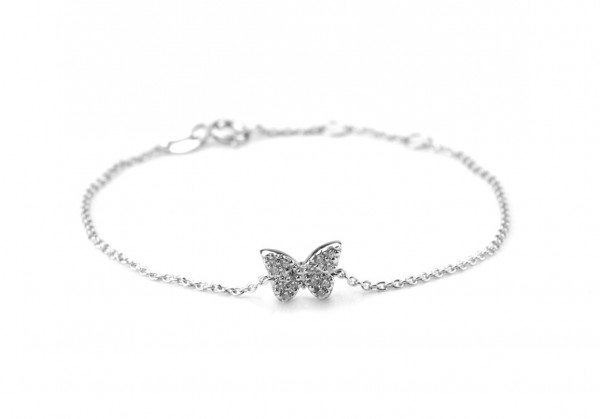 Armband Schmetterling- Symbol 925 Silber