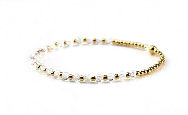 Armband Bergkristall, 925 Silber vergoldet