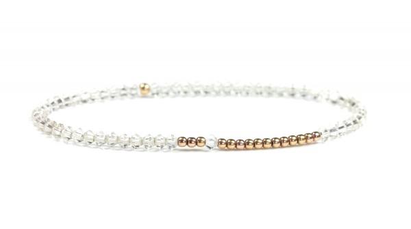 Armband Transparent-Rosegold, 925 Silber rosevergoldet
