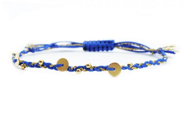 Verspieltes Armband Dunkelblau - Gold