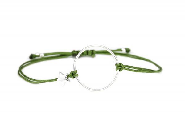 Textil Armband, Ring-Stern