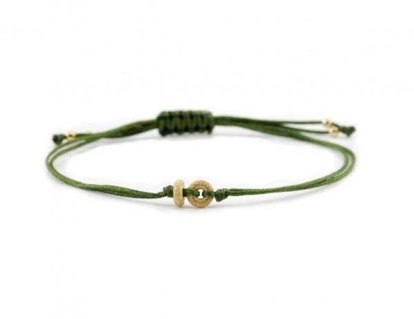 Textil Armband Grün-Gold