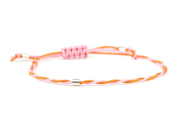 Textil Armband Rosa-Orange