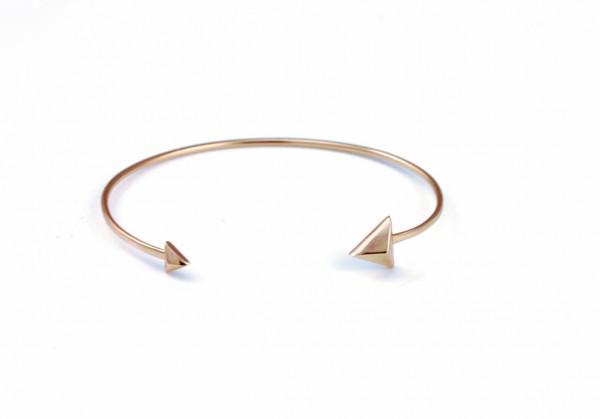 Armreif Pfeil-Design rosévergoldet