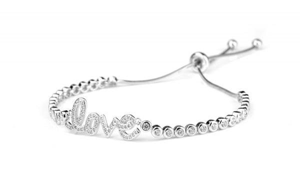 Armband LOVE Symbol, 925 Silber