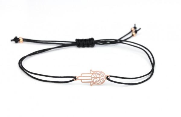 Schwarzes Symbol Armband - Fatimas Hand