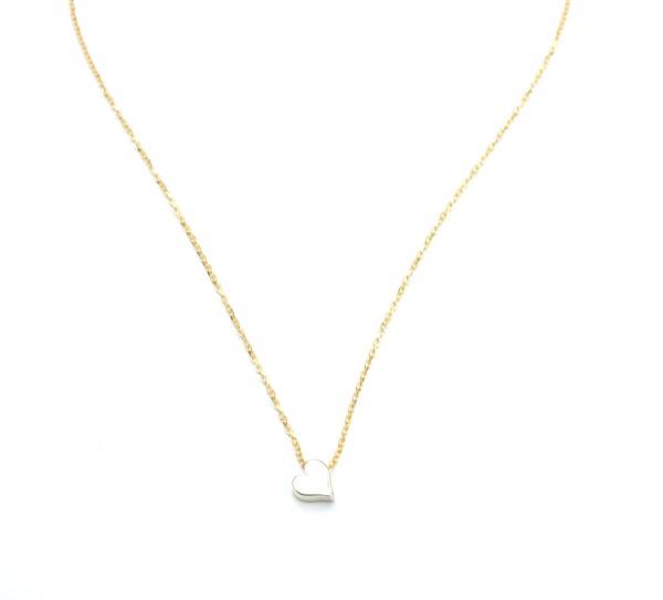 Herz Symbol Anhängerkette, 925 Silber vergoldet