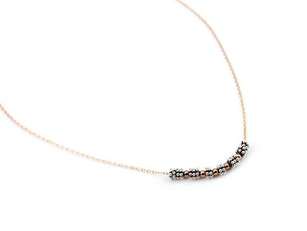 Halskette Rose-Silber