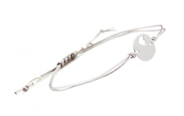 Armband 925 Silber Herz Element