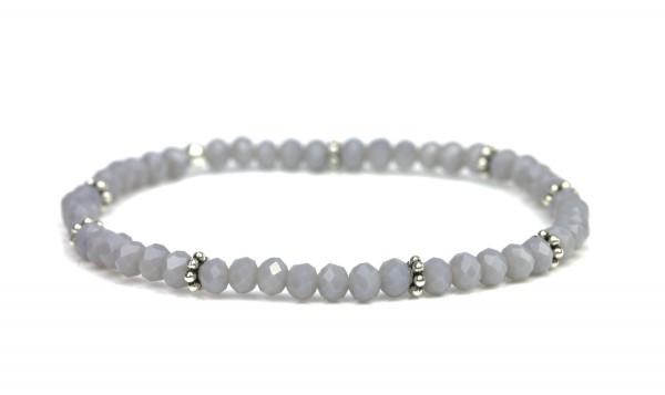 Elastisches Armband in Silber/ Grau