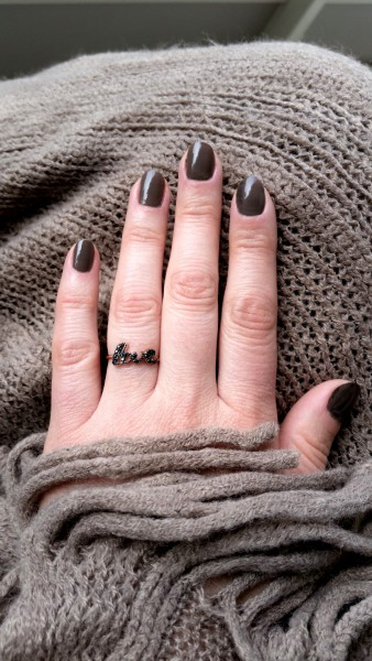 LOVE Ring, 925 Silber rosevergoldet
