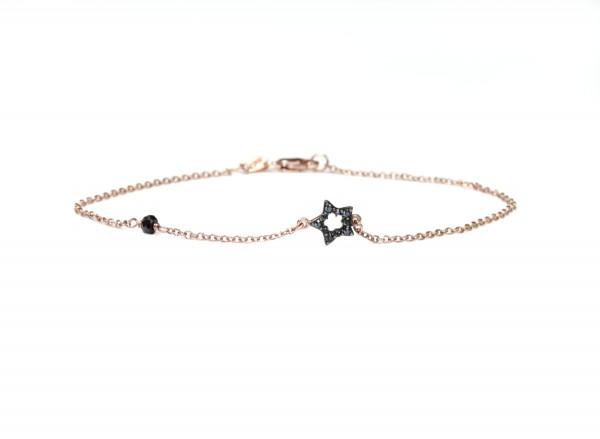 Stern Symbol Armband, 925 Silber rosevergoldet