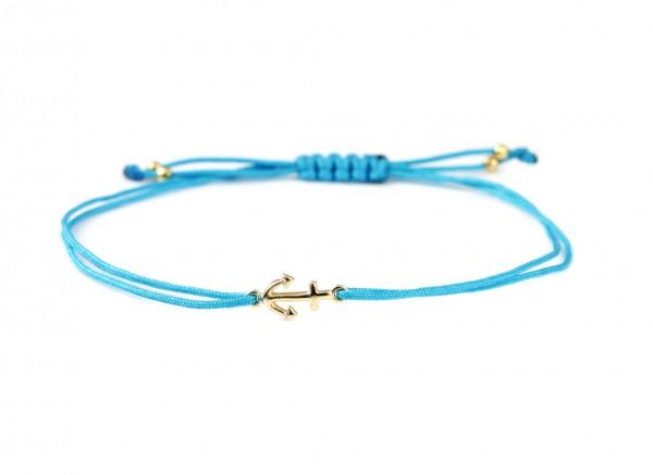 Anker Symbol Armband, Türkis-Gold