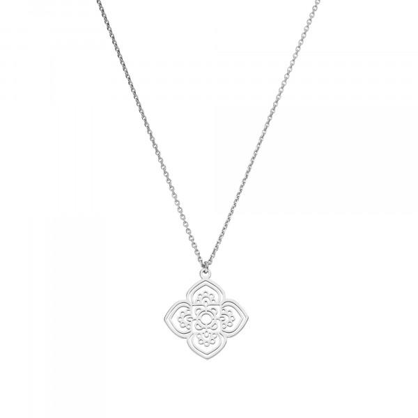 Halskette Chakra Lotusblume Ornament 925 Silber