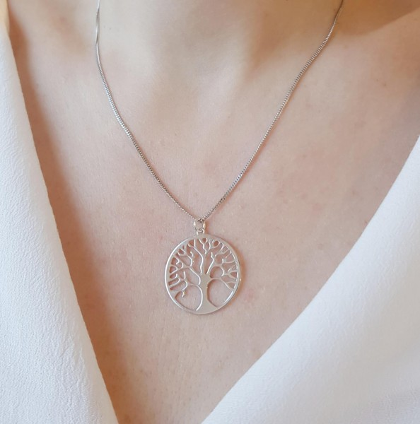 Kette mit Anhäger Lebensbaum / Baum des Lebens XL 925 Silber