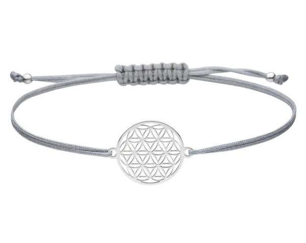 Blume des Lebens Armband 925 Silber Silber-Grau | Lebensblume Schmuck