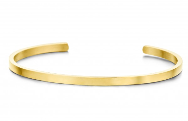 Key Moments Armreif Goldfarbe Zirkonia - hochwertiger Edelstahl IPG