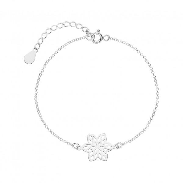 Armkette Blume 925 Silber | Blumenanhänger Blumenschmuck