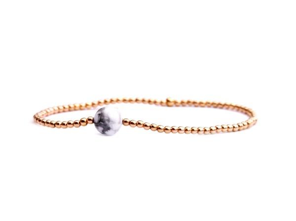 Armband Magnesit-Rosegold, 925 Silber rosevergoldet