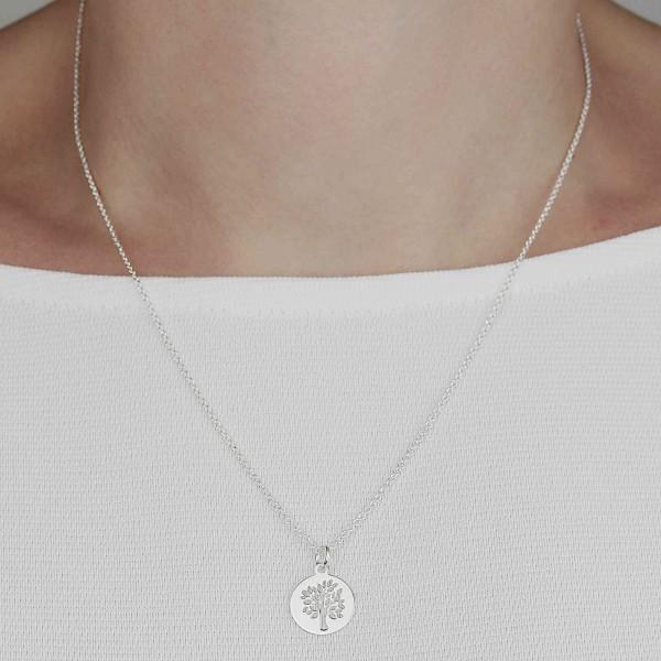 Halskette Anhäger Lebensbaum 925 Silber | Kette Baum des Lebens