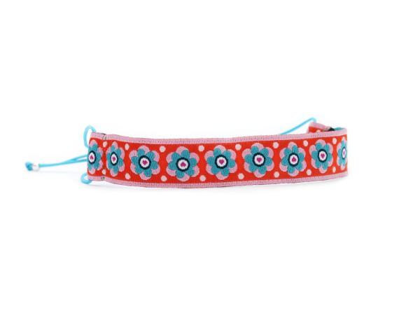 Verspieltes Textil Armband, Blau-Orange-Rosa