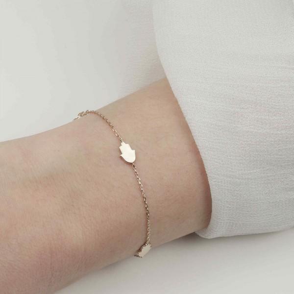 Armkette Fatimas Hand Hamsa 925 Silber vergoldet