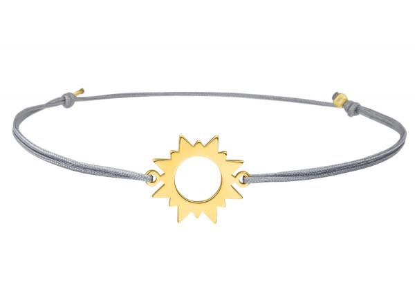 Armband Sonne 925 Silber vergoldet-Individualisierbar