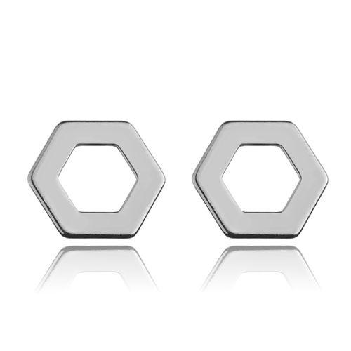 Ohrstecker Hexagon Sechseck 925 Silber
