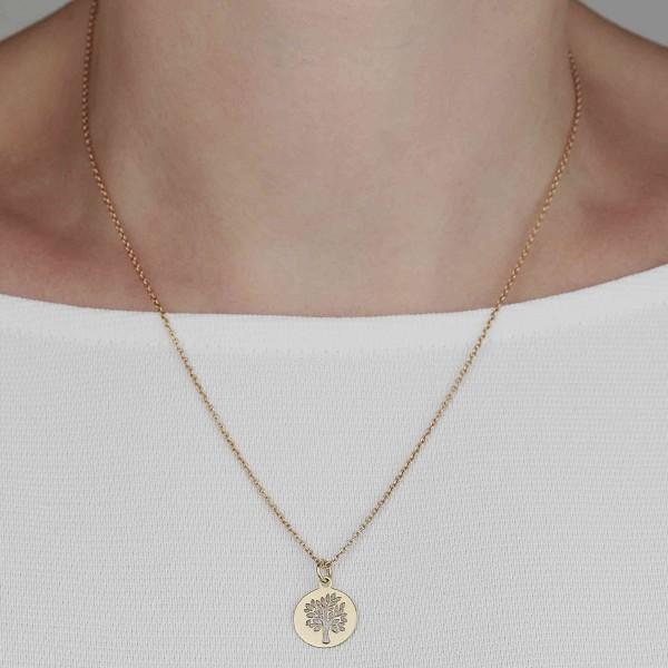 Halskette Anhäger Lebensbaum 925 Silber vergoldet | Kette Baum des Lebens