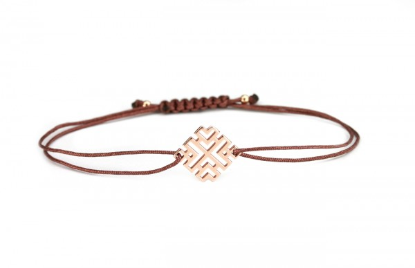 Armband ETNO Rosegold-Braun 925 Silber rosevergoldet