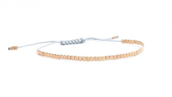 Basic Armband Rosegold-Hellgrau, 925 Silber rosevergoldet