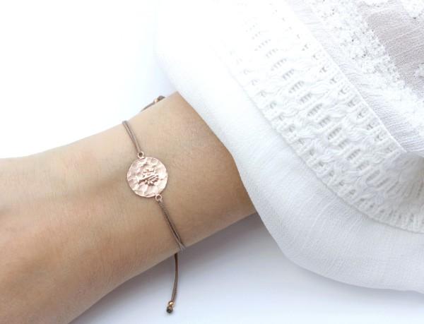 Armband Lebensbaum 925 Silber Rosevergoldet Taupe-Rosegold | Baum des Lebens Weltenbaum