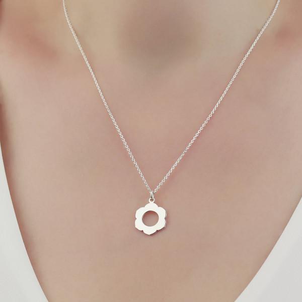 Halskette Blume Chakra 925 Silber