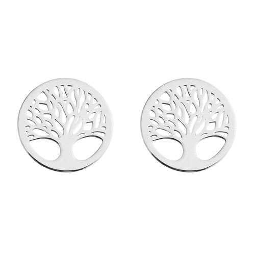 Lebensbaum Ohrstecker 925 Silber | Baum des Lebens Ohrringe
