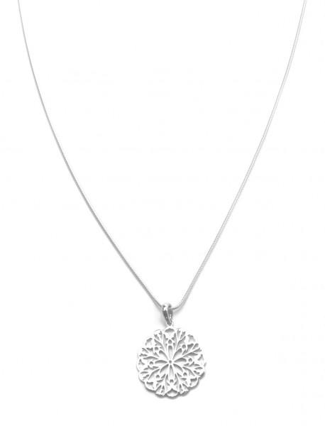Halskette Blume Anhänger 925 Silber