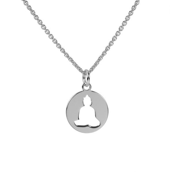 Halskette Buddha Anhänger 925 Silber