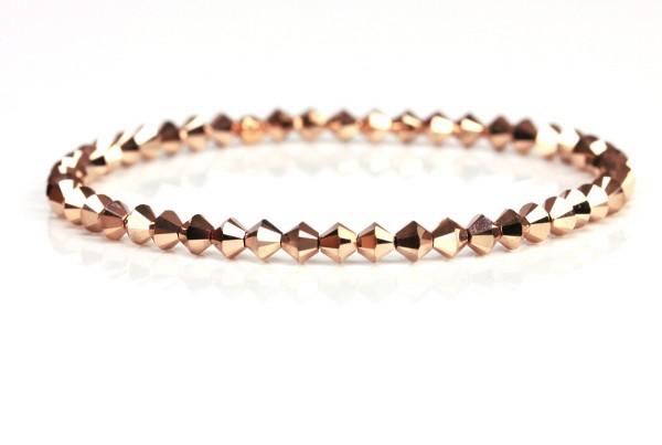 Kristallperlen Armband - Rosegold