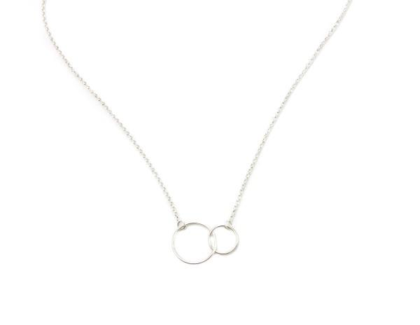 Halskette Kreise, 925 Silber