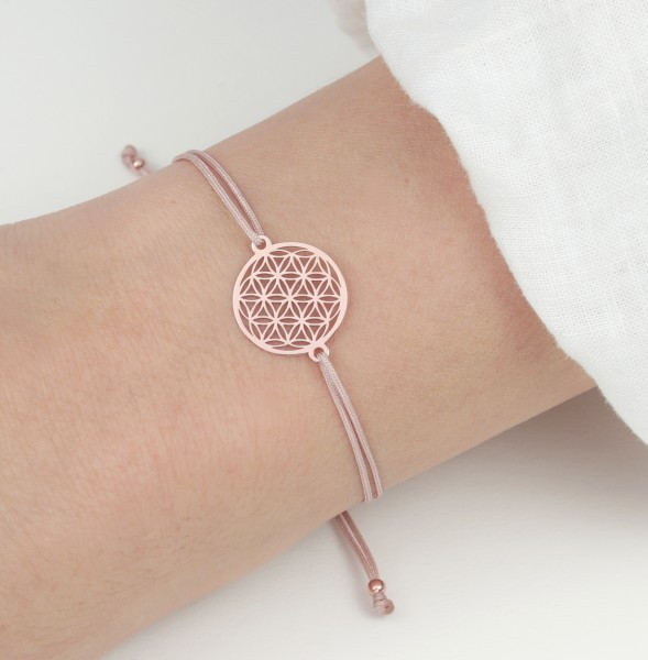 Blume des Lebens Armband Silber rosevergoldet Nude-Rosevergoldet 925 | Lebensblume Schmuck