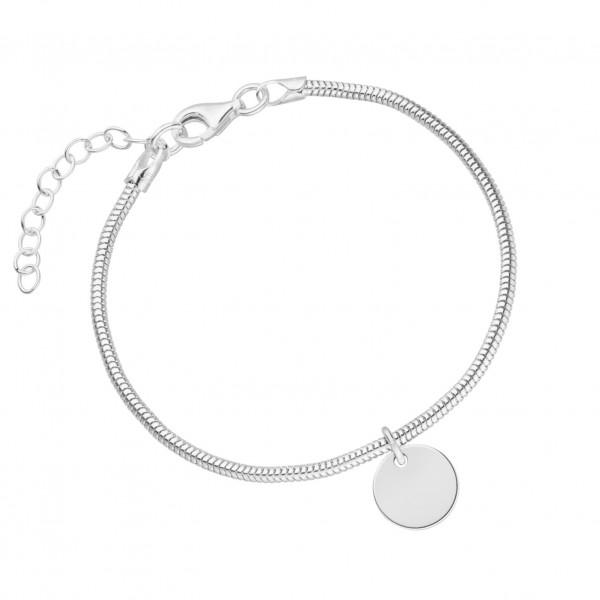 Armband Wunschgravur Schlangenkette 925 Silber