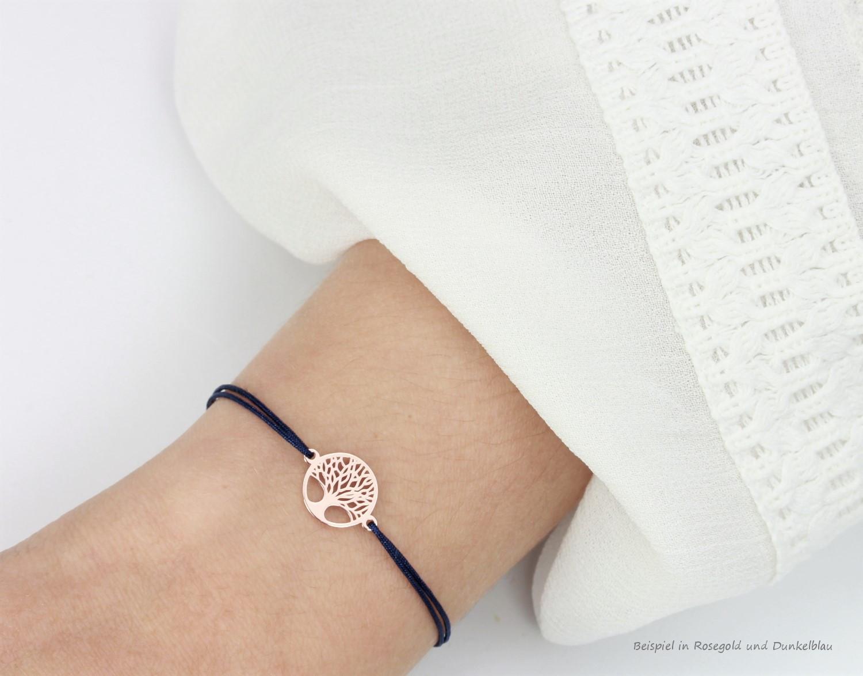 Mutter-Tochter Armband,Baum des Lebens,925 Silber rosevergoldet