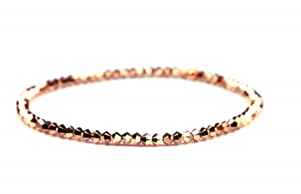 Kristallperlen Armband_Crystal Rose Gold