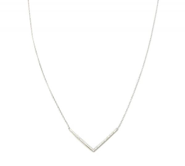 Collier V Zirkonia, 925 Silber