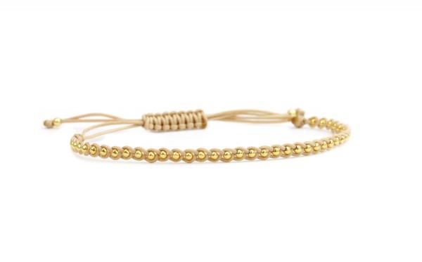 Geflochtenes Textil-Armband Gold-Beige