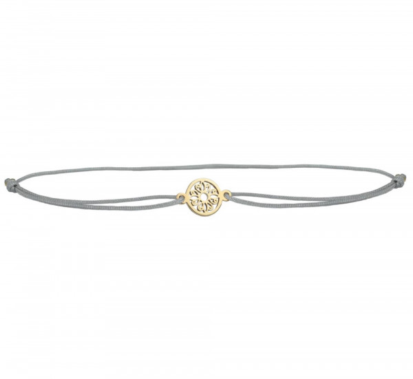 Armband Mini Mandala Blume 925 Silber vergoldet