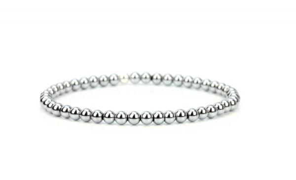 Hämatit Armband - Silber Farbe