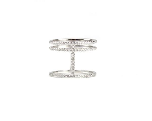 3er Ring Zirkonia, 925 Silber