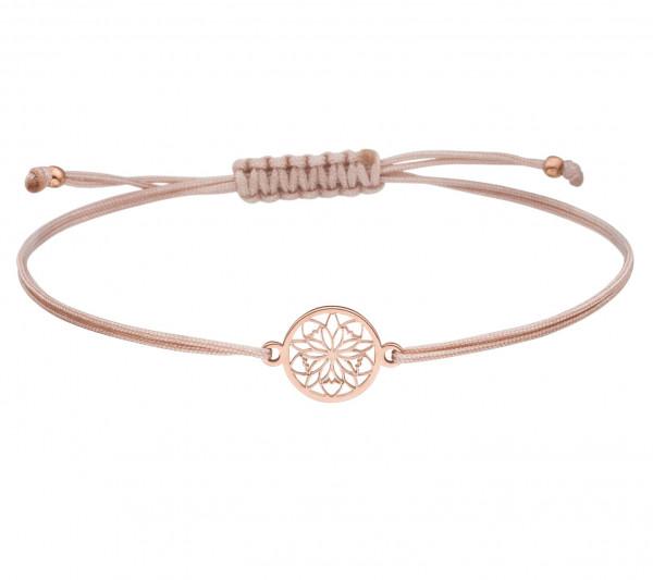 Armband Blume Rosette 925 Silber rosevergoldet Nude-Rosegold | Schmuck Blume