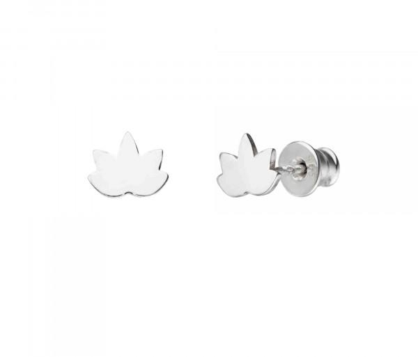 Lotus Ohrstecker | Ohrringe Lotusblume 925 Silber
